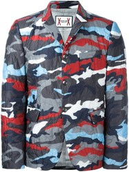 Moncler Gamme Bleu Runway Padded Camouflage Blazer Multicolour