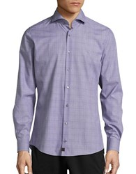 Strellson Slim Fit Textured Dress Sportshirt Medium Purple
