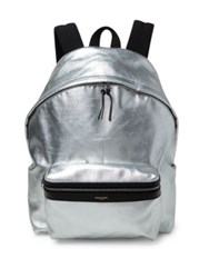 Saint Laurent Metallic Hunting Backpack Agrento Noir
