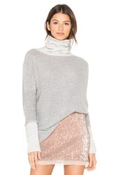 Three Dots Turtleneck Sweater Gray
