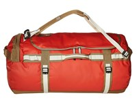 The North Face Base Camp Duffel Large Poinciana Orange Dijon Brown Duffel Bags