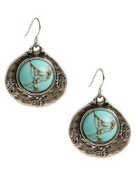 Lucky Brand Semi Precious Turquoise Drop Earrings Turquoise Silver