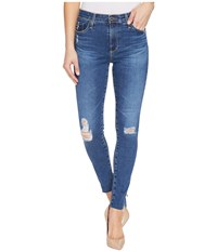 Ag Adriano Goldschmied Farrah Ankle Skinny In Interim Destroyed Interim Destroyed Women's Jeans Blue