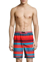 Nike Striped Swim Trunks Bright Crimson