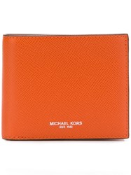 00492f5d1a95 Michael Kors Collection Bryant Bifold Wallet Yellow And Orange