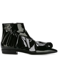 J.W.Anderson Ruffle Ankle Booties Black