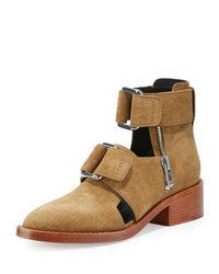 3.1 Phillip Lim Addis Cutout Leather Buckle Boot Oak