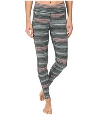 The North Face Pulse Tight Balsam Green Urban Sketch Print Women's Workout Multi