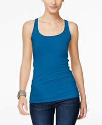 Inc International Concepts Scoop Neck Tank Top Only At Macy's Caribe Blue