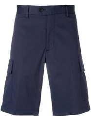 Z Zegna Classic Fitted Shorts Blue