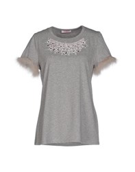 Blugirl Folies Topwear T Shirts Women Grey