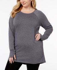 Ideology Thumbhole Cuff Tunic Created For Macy's Deep Charcoal