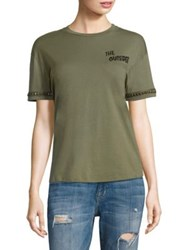 Sandrine Rose The 200 Studded Tee Stone Army Green