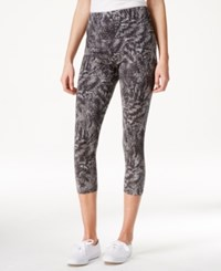 Styleandco. Style And Co. Printed Tummy Control Capri Leggings Only At Macy's