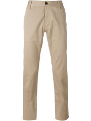Armani Jeans Classic Chino Trousers Nude And Neutrals