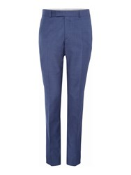 Simon Carter Solid Blue Suit Trousers