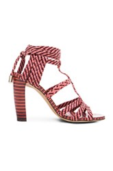 Jimmy Choo Leather Trix Heels In Pink Checkered And Plaid Stripes