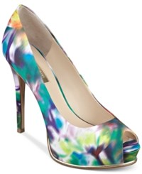 Guess Women's Honora Platform Pumps Women's Shoes Blue Multi