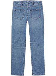 Burberry Deconstructed Straight Leg Jeans Blue