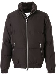 Ami Alexandre Mattiussi Fleece Lined Down Jacket Brown