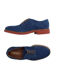Doucal's Footwear Lace Up Shoes Men Pastel Blue