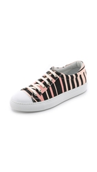 Temperley London Shore Canvas Lace Up Sneakers