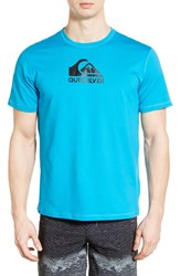 Men's Quiksilver 'Solid Streak' Short Sleeve Rash Guard Hawaiian Ocean