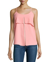 Design History Chiffon Colorblock Tank Baja Orange Desert