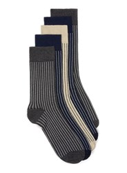 Topman Multi Assorted Colour Stripe Socks 5 Pack