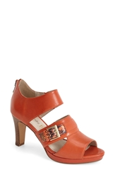Blondo 'Vandi' Leather Peep Toe Pump Women Tangerine