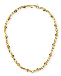 Jean Mahie 22K Gold Ruby And Sapphire Necklace 17