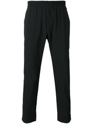 Hydrogen Elasticated Waist Tailored Trousers Black