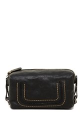 Frye Anna Leather Cosmetic Case Black
