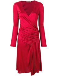 Roberto Cavalli Draped Detail Dress Red
