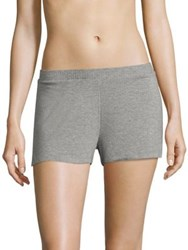 Saks Fifth Avenue Maddie Heathered Jersey Boxers Heather Grey
