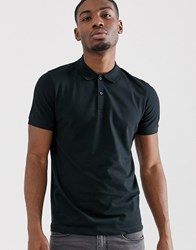 Selected Homme Polo Shirt In Black Organic Cotton