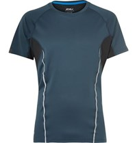 2Xu Thermal Active Panelled Mesh Running T Shirt Petrol