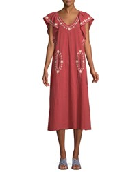 The Great Vineyard Embroidered Cotton Maxi Dress