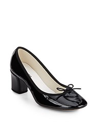 Repetto Paname Grosgrain Trimmed Patent Leather Pumps Black