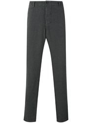 Transit Classic Tapered Trousers Men Linen Flax M Grey