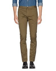 M.Grifoni Denim Trousers Casual Trousers Military Green