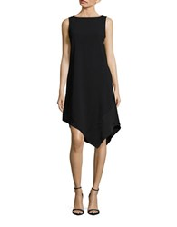 Trina Turk Joyous Crepe Sleeveless Shift Dress Black