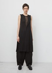 Yohji Yamamoto Asymmetrical Collar Knit Dress Black