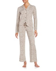 Pj Salvage Animal Print Pajama Set Natural