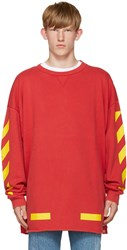 Off White Red Arrows Pullover