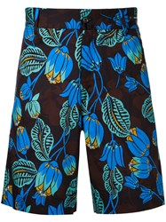Pt01 Floral Print Shorts Men Cotton Spandex Elastane 50