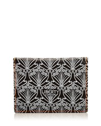 Liberty London Neon Canvas Travel Card Case Black
