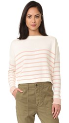 The Great Boat Neck Sweater Cream With Peach
