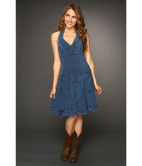 Scully Cantina Halter Dress Dark Blue Women's Dress