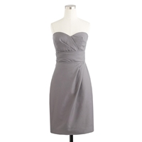 J.Crew Petite Raquel Dress In Cotton Cady Graphite